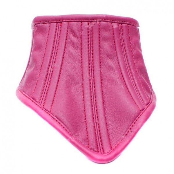 BDSM (БДСМ) - Благородный кожаный ошейник розовый