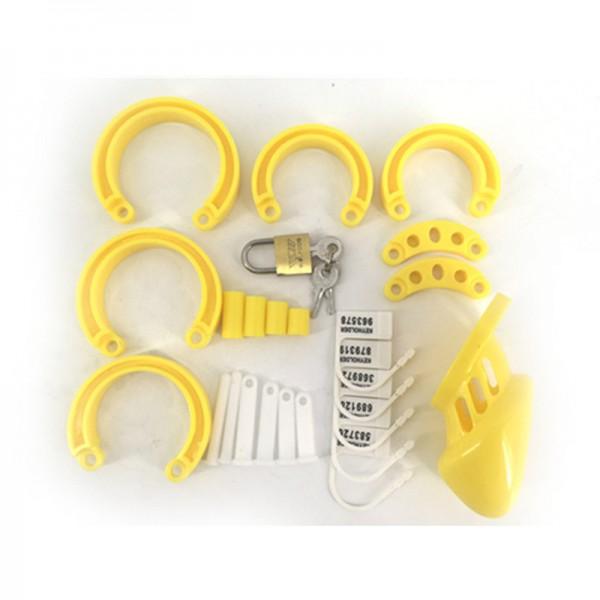 BDSM (БДСМ) - <? print CB-6000S Устройство Мужское Целомудрие - укорочена версия (желтое); ?>