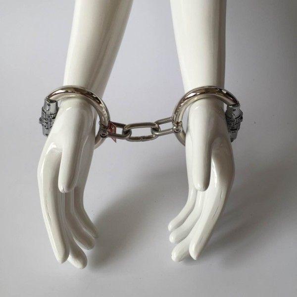 100% Handmade Combination Lock Number Lock Unisex Handcuffs (S/M Size)