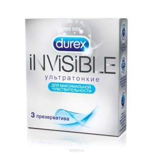 Condoms Durex Invisible, 3 PCs