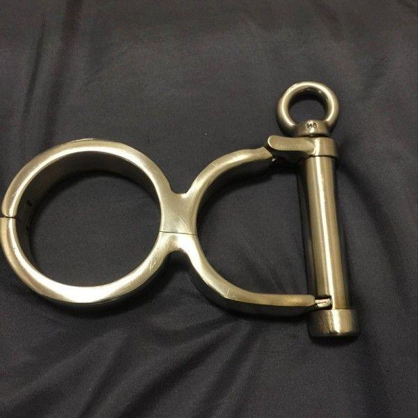 Unisex Luxury Stainless Steel Irish 8 Handcuffs Stainless Steel Gourd wrist restraints