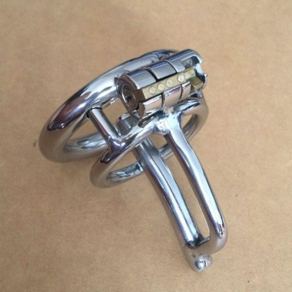 BDSM (БДСМ) - Катетер для пениса с колечком серебристого цвета