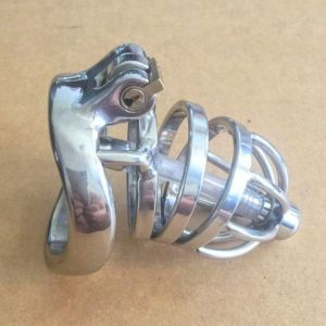 Stainless Steel Male Urethral Tube Chastity Device / Stainless Steel Chastity Cage