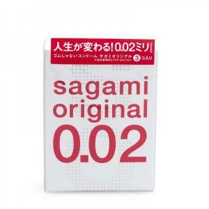Полиуретановые презервативы Sagami Original 0.02мм, 3 шт