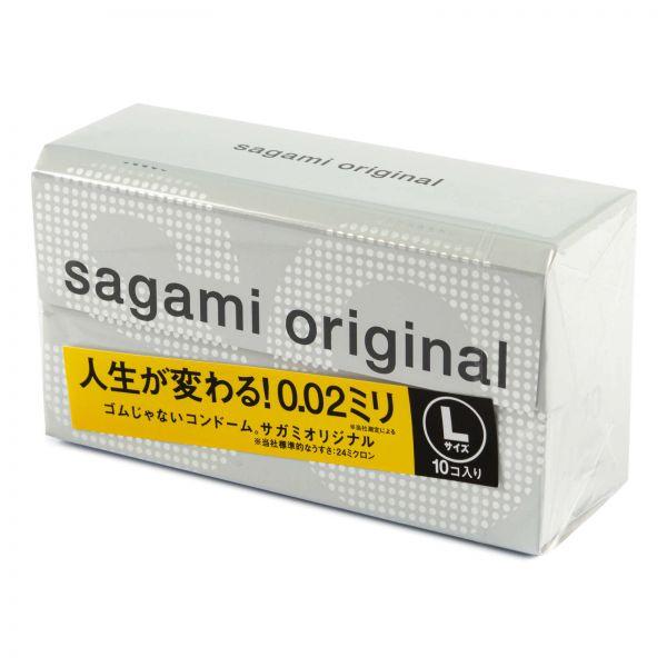 Полиуретановые презервативы Sagami размер L 0.02мм, 12 шт