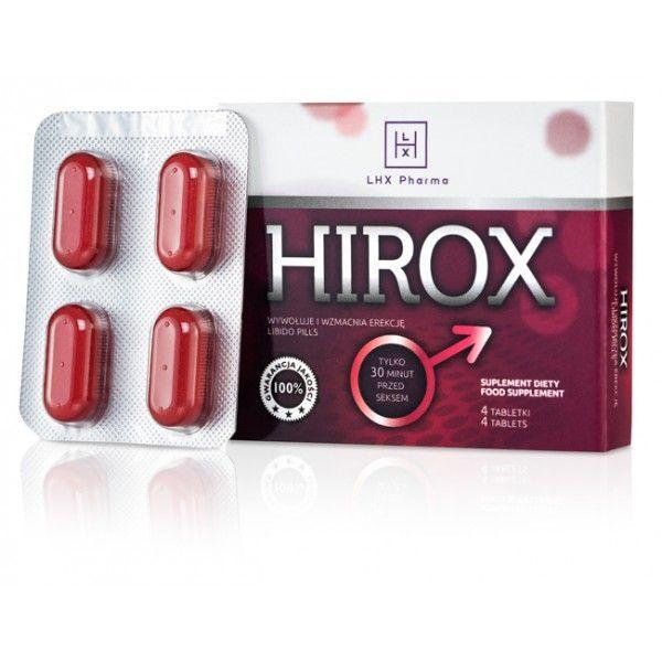 LHX Возбуждающие таблетки для мужчин Hirox 4шт