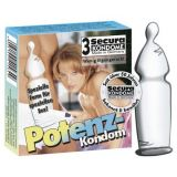 Condoms Secura Potenz, 3 PCs