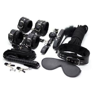 Bdsm set of 9 items black