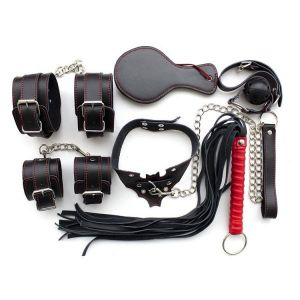 Set of BDSM paraphernalia (natural leather)