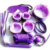 Bdsm set of 7 pieces purple
