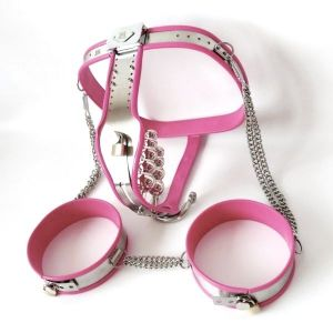 Pink chastity belt for women. Артикул: IXI48860