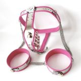 Pink chastity belt for women