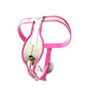 Chastity belt of steel Premium soft tube