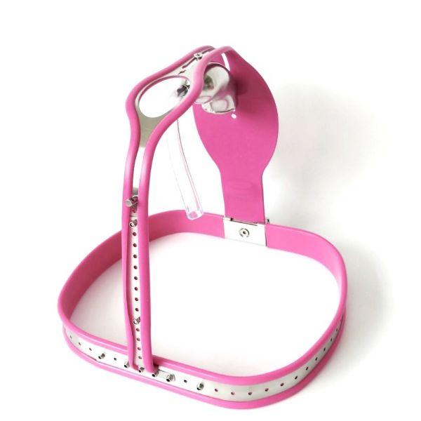 Chastity belt of steel Premium soft tube. Артикул: IXI48862