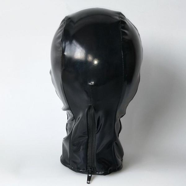 Black vinyl mask with white inserts. Артикул: IXI48866