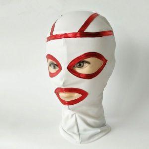 White latex mask