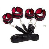 BDSM (БДСМ) - Набор на кровать четверные фиксаторы рук и ног