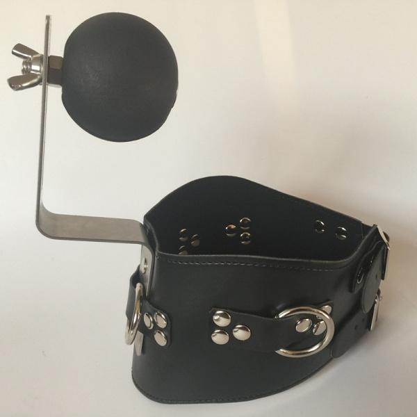 Black collar with ball gag Fixed. Артикул: IXI48877