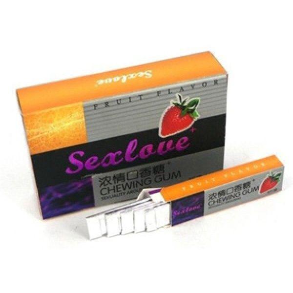 Возбуждающая жевательная резинка SexLove, 10x5 шт