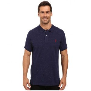 SALE! Polo us POLO ASSN. Short Sleeve Fleck Pique Polo Shirt