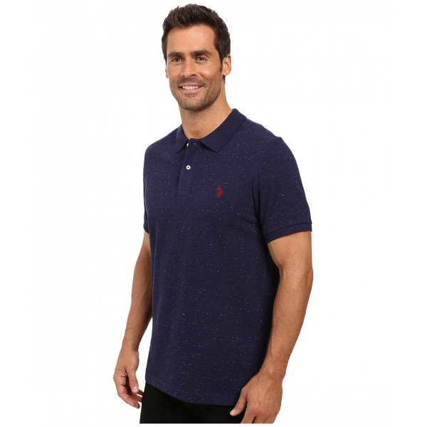 SALE! Polo us POLO ASSN. Short Sleeve Fleck Pique Polo Shirt. Артикул: IXI48906