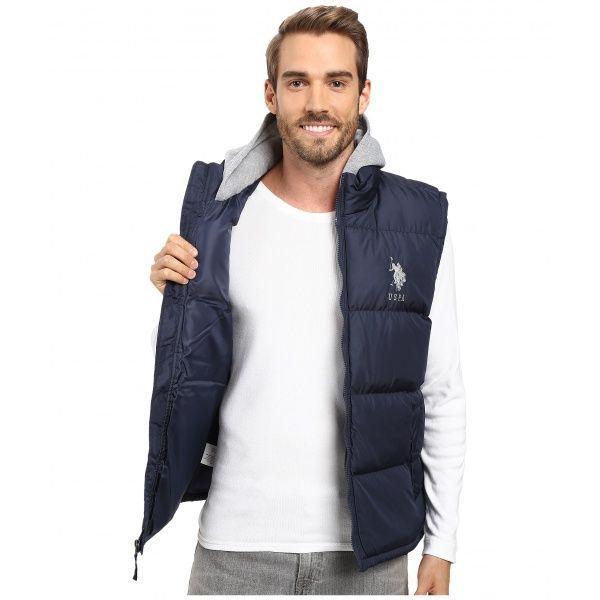 SALE! Vest U.S. POLO ASSN. Basic Puffer Vest with Fleece hood