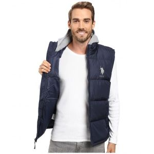 SALE! Vest U.S. POLO ASSN. Basic Puffer Vest with Fleece hood