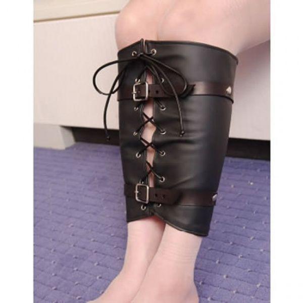 BDSM (БДСМ) - Кожаный корсет для связывания ног