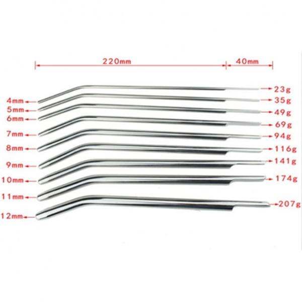BDSM (БДСМ) - <? print Катетеры для уретры нержавеющая сталь 9 шт (4 мм-12 мм); ?>