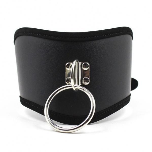 Leather collar with metal chain. Артикул: IXI48954