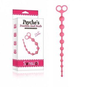Розовая анальная цепочка Psyche s