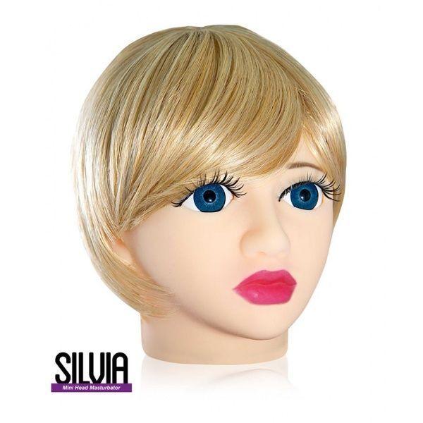 Мастурбатор в форме головы «Silvia»