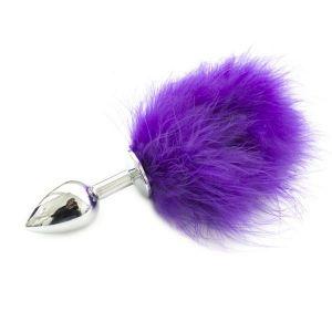 Пробка металлическая с фиолетовым хвостиком