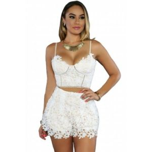 Sexy lace set: top and shorts