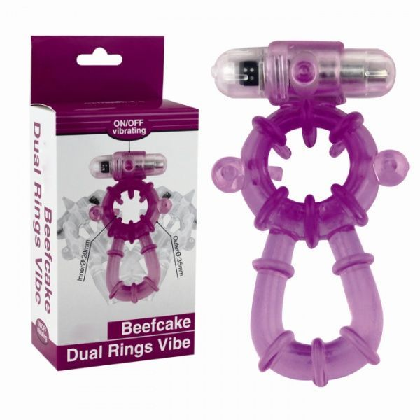 Bиброкольцо пурпурное Beefcake Dual Ring