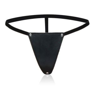 Womens black Thong