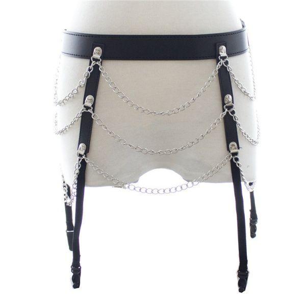 BDSM (БДСМ) - Портупея на бедра с цепочками
