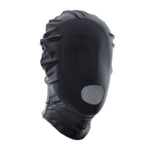 Черная виниловая маска с вырезами для рта