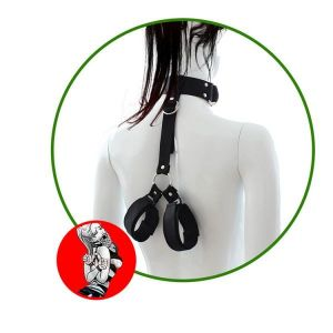 The collar with clamps for hands