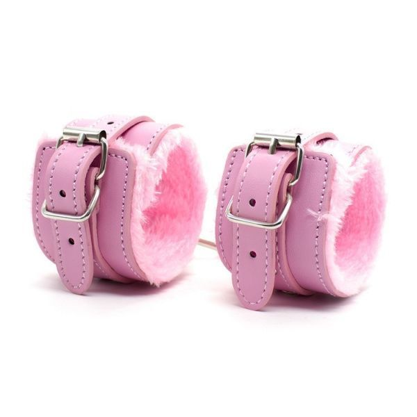 BDSM (БДСМ) - Гламурные розовые наручники с мехом