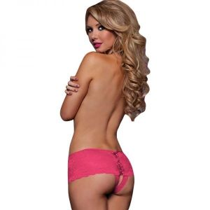 Sexy pink lace panties