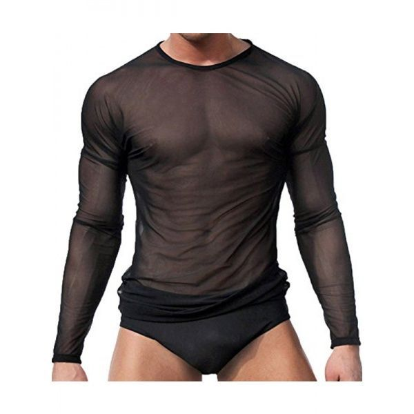 Мужская полупрозрачная футболка