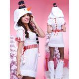 White hood Christmas Costume