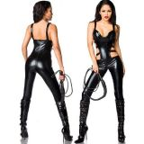 Sexy Faux Leather Catwoman Costume