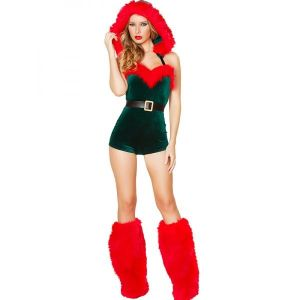 Sexy Christmas Costume With Red Warm Legging
