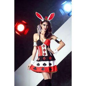 Sexy Bunny Queen heart Costume