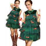 Green Sleeveless Christmas Costume