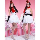 Elegant Santa Costume Women White