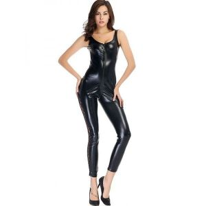Black Vinyl Leather Catwoman Costume