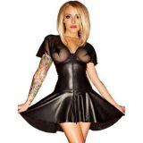 Сексапильное платье из черного винила